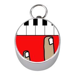 Piano  Mini Silver Compasses