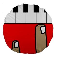 Piano  Large 18  Premium Flano Round Cushions