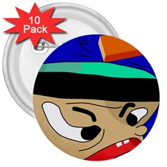 Accident  3  Buttons (10 pack)