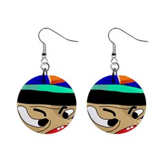 Accident  Mini Button Earrings