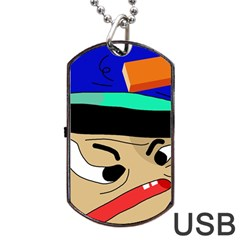 Accident  Dog Tag USB Flash (One Side)