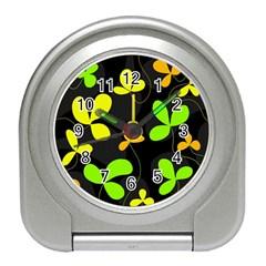 Floral design Travel Alarm Clocks