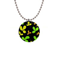 Floral design Button Necklaces