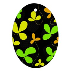 Floral design Oval Ornament (Two Sides)
