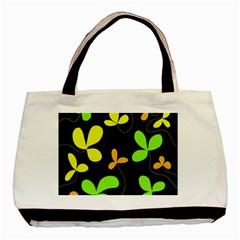 Floral design Basic Tote Bag (Two Sides)