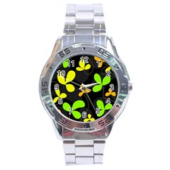 Floral design Stainless Steel Analogue Watch