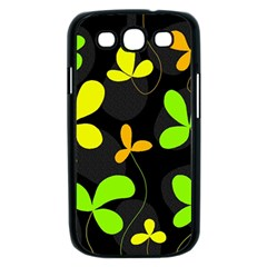 Floral design Samsung Galaxy S III Case (Black)