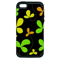 Floral design Apple iPhone 5 Hardshell Case (PC+Silicone)