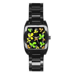 Floral design Stainless Steel Barrel Watch