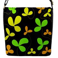 Floral design Flap Messenger Bag (S)