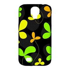 Floral design Samsung Galaxy S4 Classic Hardshell Case (PC+Silicone)