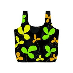 Floral design Full Print Recycle Bags (S)