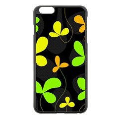 Floral design Apple iPhone 6 Plus/6S Plus Black Enamel Case