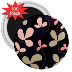 Elegant floral design 3  Magnets (100 pack)