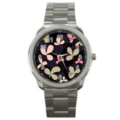Elegant floral design Sport Metal Watch