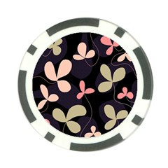 Elegant floral design Poker Chip Card Guards