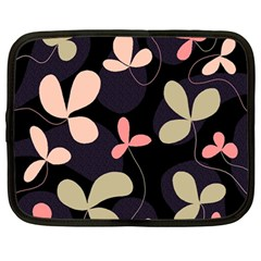 Elegant floral design Netbook Case (Large)
