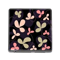 Elegant floral design Memory Card Reader (Square)