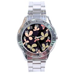 Elegant floral design Stainless Steel Analogue Watch
