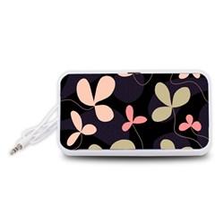 Elegant floral design Portable Speaker (White)