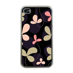 Elegant floral design Apple iPhone 4 Case (Clear)