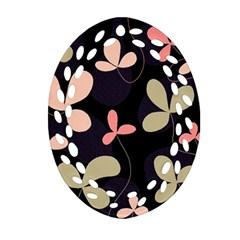 Elegant floral design Oval Filigree Ornament (2-Side)