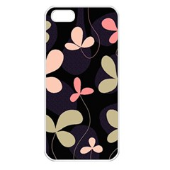 Elegant floral design Apple iPhone 5 Seamless Case (White)