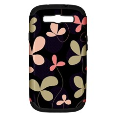 Elegant floral design Samsung Galaxy S III Hardshell Case (PC+Silicone)