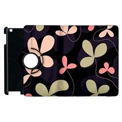 Elegant floral design Apple iPad 2 Flip 360 Case