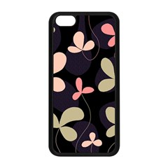 Elegant floral design Apple iPhone 5C Seamless Case (Black)