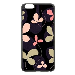 Elegant floral design Apple iPhone 6 Plus/6S Plus Black Enamel Case