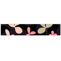 Elegant floral design Flano Scarf (Large)