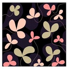 Elegant floral design Large Satin Scarf (Square)