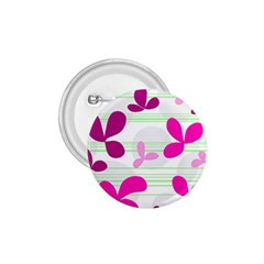 Magenta floral pattern 1.75  Buttons