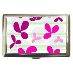 Magenta floral pattern Cigarette Money Cases
