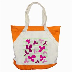 Magenta floral pattern Accent Tote Bag