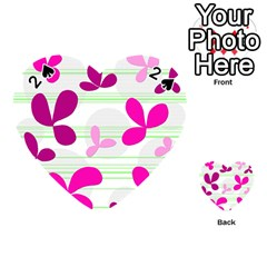 Magenta floral pattern Playing Cards 54 (Heart)