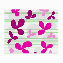 Magenta floral pattern Small Glasses Cloth (2-Side)