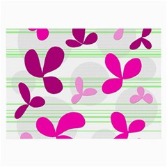 Magenta floral pattern Large Glasses Cloth