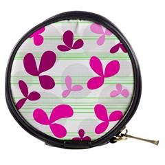 Magenta floral pattern Mini Makeup Bags