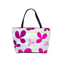 Magenta floral pattern Shoulder Handbags