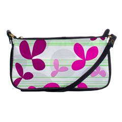 Magenta floral pattern Shoulder Clutch Bags