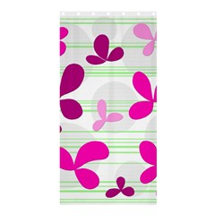 Magenta floral pattern Shower Curtain 36  x 72  (Stall)