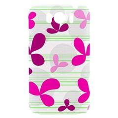 Magenta floral pattern HTC Sensation XL Hardshell Case