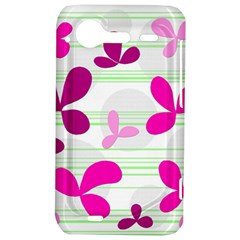 Magenta floral pattern HTC Incredible S Hardshell Case