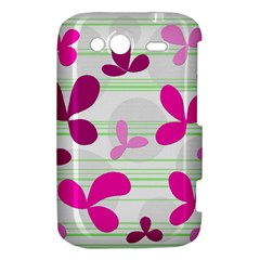 Magenta floral pattern HTC Wildfire S A510e Hardshell Case