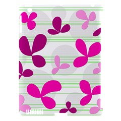 Magenta floral pattern Apple iPad 3/4 Hardshell Case (Compatible with Smart Cover)