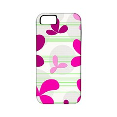 Magenta floral pattern Apple iPhone 5 Classic Hardshell Case (PC+Silicone)