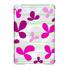 Magenta floral pattern Apple iPad Mini Hardshell Case (Compatible with Smart Cover)