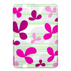 Magenta floral pattern Kindle Fire HD 8.9